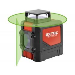 Laser zelený liniový, křížový samonivelační EXTOL-PREMIUM