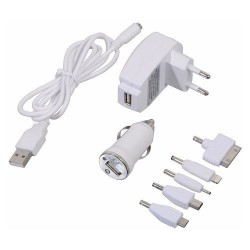Nabíječka telefonu 220/12V (iPhone 4/5/6, micro USB, Nokia) COMPASS