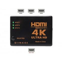 Přepínač 3x HDMI - 1x HDMI HADEX UH-301