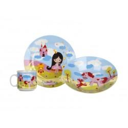 Sada jídelní BANQUET Little Princess 3ks