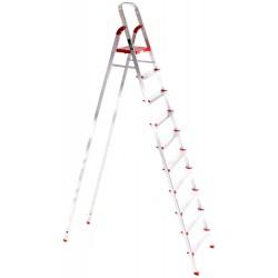 Schůdky hliníkové skládací ALU STEPS 10, 10 stupňů, nejvyšší schůdek 222 cm, nosnost 120kg SIXTOL