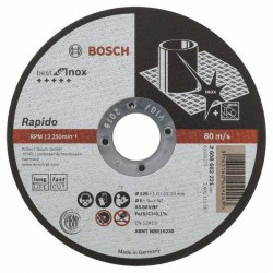 Dělicí kotouč rovný Best for Inox - Rapido Long Life - A 60 W BF 41, 125 mm, 22,23 mm, 1,0 BOSCH