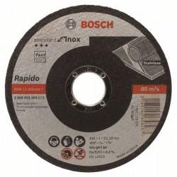 Dělicí kotouč rovný Standard for Inox - Rapido - WA 60 T BF, 115 mm, 22,23 mm, 1,0 mm - 31 BOSCH