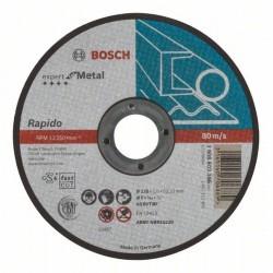 Dělicí kotouč rovný Expert for Metal – Rapido - AS 60 T BF, 125 mm, 1,0 mm - 3165140706889 BOSCH