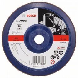 Lamelový brusný kotouč X571, Best for Metal, 180 mm, 22,23 mm, P80 BOSCH