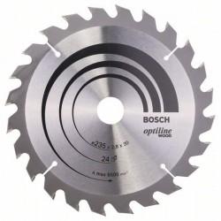 Pilový kotouč Optiline Wood - 235 x 30/25 x 2,8 mm, 24 - 3165140194990 BOSCH