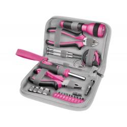 Sada nářadí 23ks, růžová barva EXTOL-CRAFT