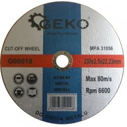 Řezný kotouč na ocel, 230x2,5x22,2mm GEKO