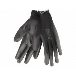 """Rukavice z polyesteru polomáčené v PU, černé, velikost 10"""" EXTOL-PREMIUM"""