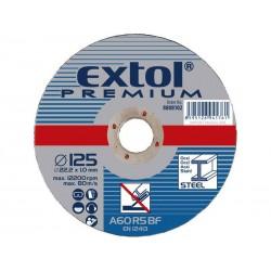 Kotouč řezný na ocel, 180x3x22,2mm EXTOL-PREMIUM