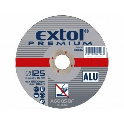 Kotouč řezný na hliník, 125x1,0x22,2mm EXTOL-PREMIUM