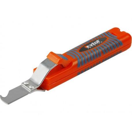 Nůž na odizolování kabelů, 8-28mm, délka nože 170mm, na kabely O 8-28mm EXTOL-PREMIUM