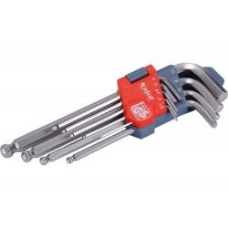 L-klíče imbus, sada 9ks, 1,5-2-2,5-3-4-5-6-8-10mm, s kuličkou EXTOL-PREMIUM