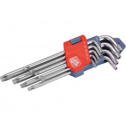 L-klíče TORX, sada 9ks, T 10-15-20-25-27-30-40-45-50 EXTOL-PREMIUM