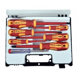 Šroubováky elektrikářské se zkoušečkou, sada 7ks, 3x(-),3x(PH), CrV EXTOL-PREMIUM