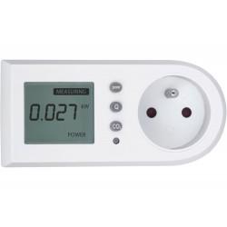 Měřič spotřeby el. energie - wattmetr, měří kW, kWh, CO2 EXTOL-LIGHT