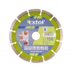 Kotouč diamantový řezný segmentový, 150x22,2mm, suché řezání EXTOL-CRAFT