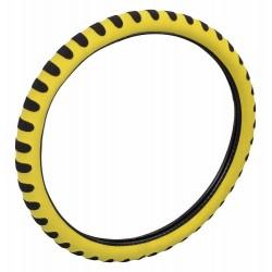 Potah volantu SOFT žlutý COMPASS
