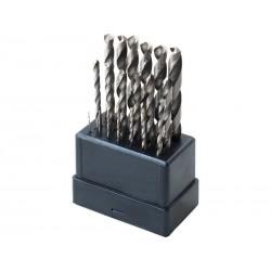 Vrtáky do kovu, sada 19ks, Ř1-10mm, po 0,5mm, leštěné EXTOL-CRAFT