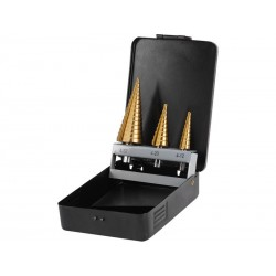 Vrtáky stupňovité, sada 3ks, Ř4-12/1mm, Ř4-20/2mm, Ř4-32/2mm EXTOL-CRAFT