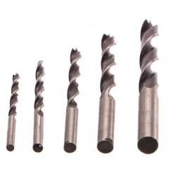 Vrtáky do dřeva, sada 5ks, 4-10mm GEKO