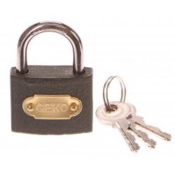 Zámek visací, 38mm, 3 klíče GEKO