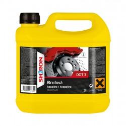 Brzdová kapalina DOT 3, 3 litry SHERON