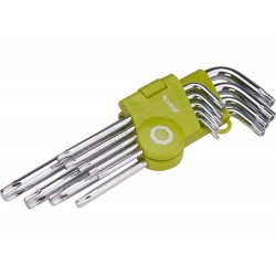 L-klíče TORX, sada 9ks, T 10-15-20-25-27-30-40-45-50 EXTOL-CRAFT
