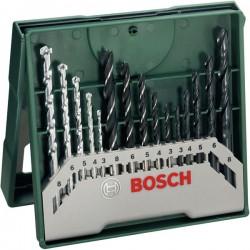 15dílná minisada vrtáků X-Line mix Bosch