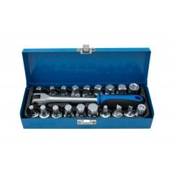 Zástrčné klíče na zátky olejových van, sada 20 kusů QUATROS