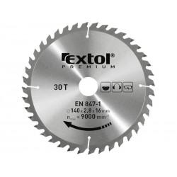 Kotouč pilový s SK plátky, 125x1,3x22,2mm, 40T, šířka SK plátků 2,6mm, SK EXTOL-PREMIUM