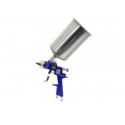 Stříkací pistole HVLP, kovová nádrž 1000ml GEKO