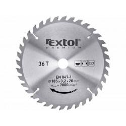 Kotouč pilový s SK plátky, 185x2,2x20mm, 36T, šířka SK plátků 3,2mm, SK EXTOL-PREMIUM