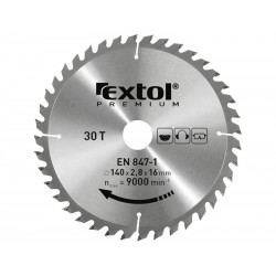 Kotouč pilový s SK plátky, 400x2,8x30mm, 60T, šířka SK plátků 3,8mm, SK EXTOL-PREMIUM