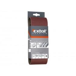 Plátno brusné nekonečný pás, bal. 3ks, P60, 75x533mm EXTOL-PREMIUM