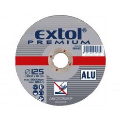 Kotouč řezný na hliník, 115x1,0x22,2mm EXTOL-PREMIUM