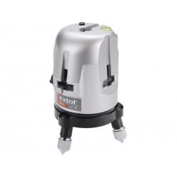 Laser liniový, křížový samonivelační, přesnost: 0,5mm/1m (bod 0,6mm/m) EXTOL-PREMIUM