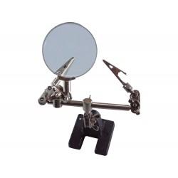 """Držák """"třetí ruka"""" s lupou, průměr lupy 60mm EXTOL-CRAFT"""