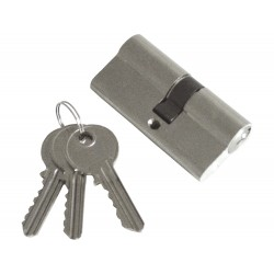 Vložka cylindrická, 65mm (30+35mm), 3 klíče, mosazné poniklované tělo EXTOL-CRAFT