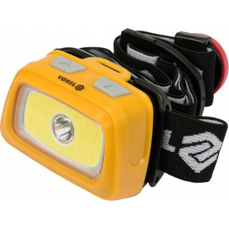 Svítilna čelovka LED XPE CREE 3W + COB LED 3W