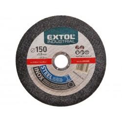 Kotouč řezný na ocel/nerez, 150x1,0x22,2mm EXTOL-INDUSTRIAL