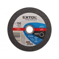 Kotouč řezný na ocel/nerez, 115x0,8x22,2mm EXTOL-PREMIUM