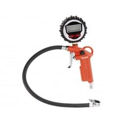 Plnič pneumatik s manometrem, digitální, stupnice - psi, bar, kPa, Kgf/cm2, RP 120 D EXTOL-PREMIUM
