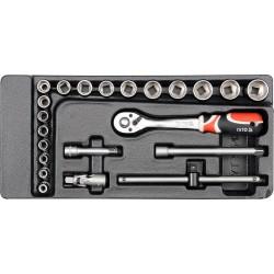 Vložka do zásuvky - klíče nástrčné 22ks 6-22mm gola