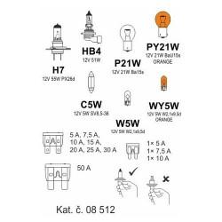 Žárovky box ŠKODA ROOMSTER H7 + OCT2/FAB2 COMPASS
