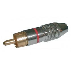 Konektor CINCH kabel kov nikl pr.5mm černý