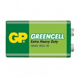 Baterie 6F22 (9V) Zn-Cl GP Greencell