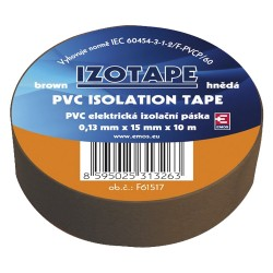 Páska izolační PVC 15/10m  hnědá EMOS