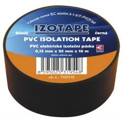 Páska izolační PVC 25/10m  černá EMOS