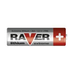 Baterie lithiová AA R6 1,5V RAVER